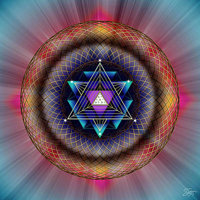 Digital Art - Sacred Geometry 679 by Endre Balogh