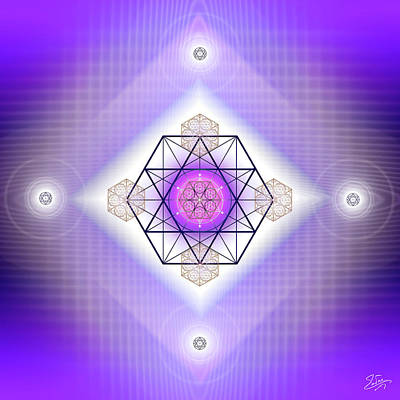Digital Art - Sacred Geometry 680 by Endre Balogh