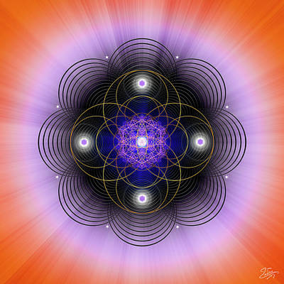 Digital Art - Sacred Geometry 681 by Endre Balogh