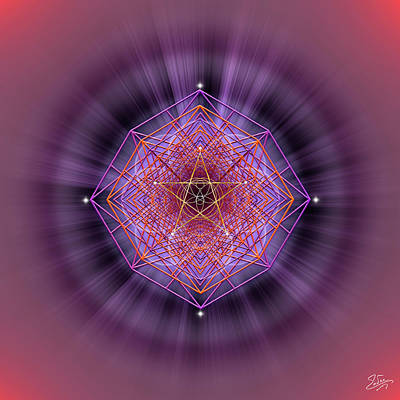 Digital Art - Sacred Geometry 689 by Endre Balogh