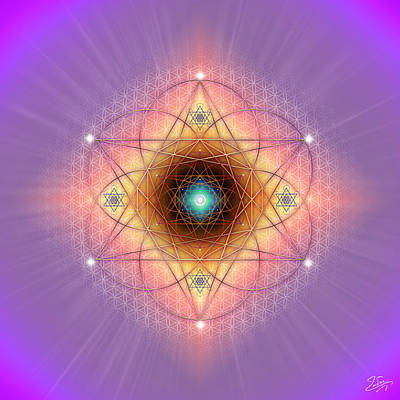Digital Art - Sacred Geometry 691 by Endre Balogh