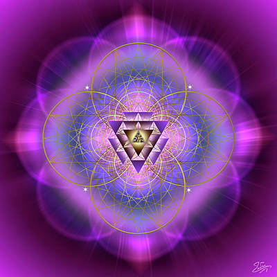 Digital Art - Sacred Geometry 692 by Endre Balogh
