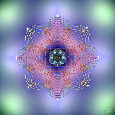 Digital Art - Sacred Geometry 693 by Endre Balogh