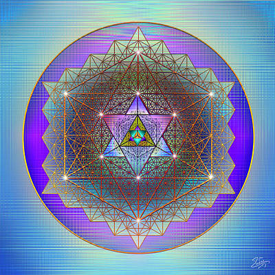 Digital Art - Sacred Geometry 695 by Endre Balogh