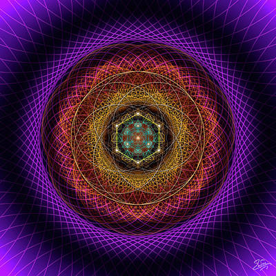 Digital Art - Sacred Geometry 700 by Endre Balogh