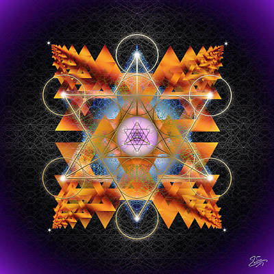 Digital Art - Sacred Geometry 701 by Endre Balogh