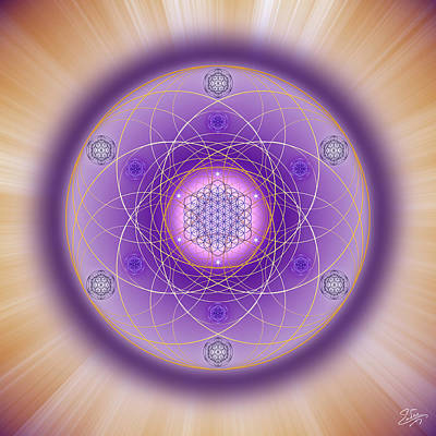 Digital Art - Sacred Geometry 704 by Endre Balogh
