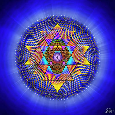 Digital Art - Sacred Geometry 705 by Endre Balogh