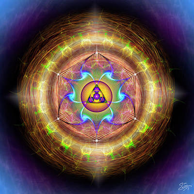 Digital Art - Sacred Geometry 707 by Endre Balogh