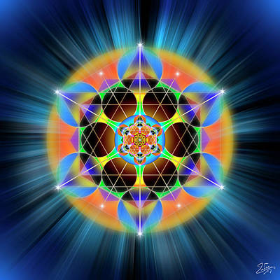 Digital Art - Sacred Geometry 709 by Endre Balogh