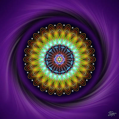 Digital Art - Sacred Geometry 710 by Endre Balogh