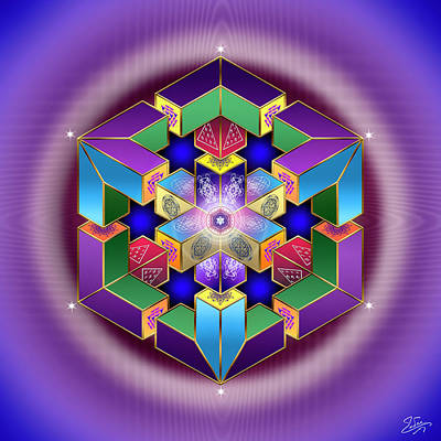 Digital Art - Sacred Geometry 711 by Endre Balogh