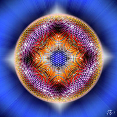 Digital Art - Sacred Geometry 712 by Endre Balogh