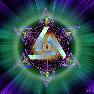 Digital Art - Sacred Geometry 713 by Endre Balogh