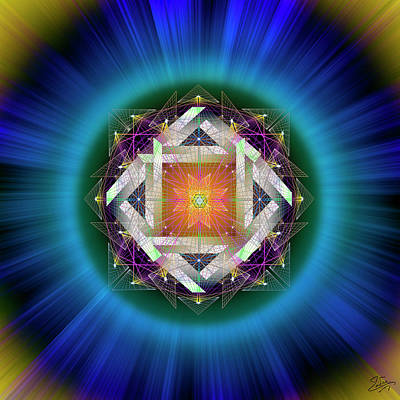 Digital Art - Sacred Geometry 714 by Endre Balogh