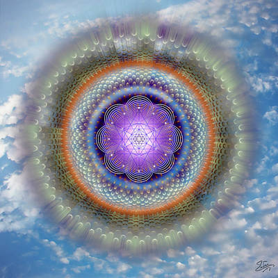 Digital Art - Sacred Geometry 716 by Endre Balogh