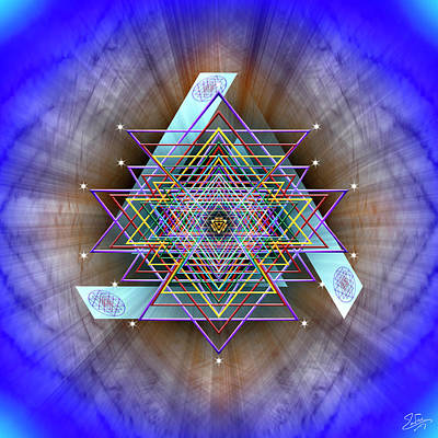 Digital Art - Sacred Geometry 717 by Endre Balogh