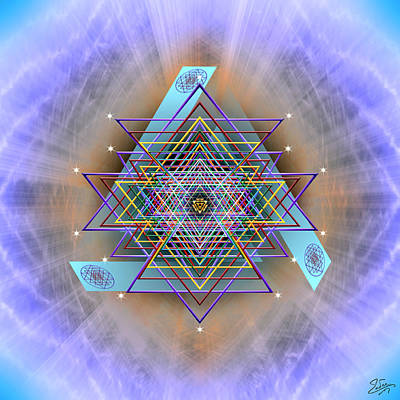 Digital Art - Sacred Geometry 717 Version 2 by Endre Balogh