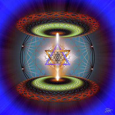 Digital Art - Sacred Geometry 718 by Endre Balogh