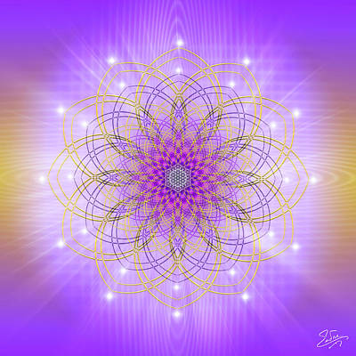 Digital Art - Sacred Geometry 721 by Endre Balogh