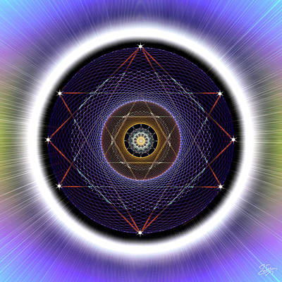 Digital Art - Sacred Geometry 722 by Endre Balogh