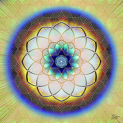 Digital Art - Sacred Geometry 723 by Endre Balogh