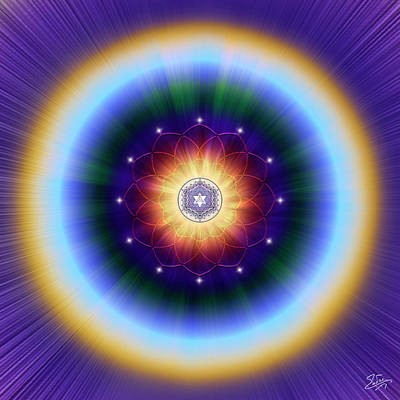 Digital Art - Sacred Geometry 724 by Endre Balogh