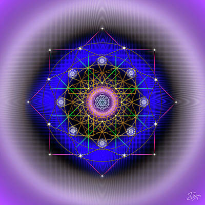 Digital Art - Sacred Geometry 725 by Endre Balogh