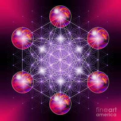 Digital Art - Sacred Geometry Metatron by Alexa Szlavics
