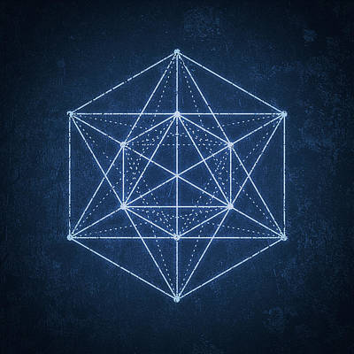 Sacred Geometry Digital Art - Sacred Geometry  Minimal Hipster Symbol Art by Philipp Rietz