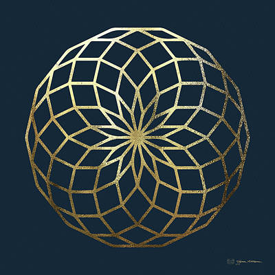 Digital Art - Sacred Geometry - Philosopher's Stone No. 1 by Serge Averbukh