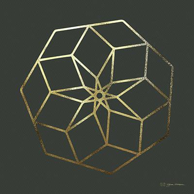 Digital Art - Sacred Geometry - Philosopher's Stone No. 3 by Serge Averbukh