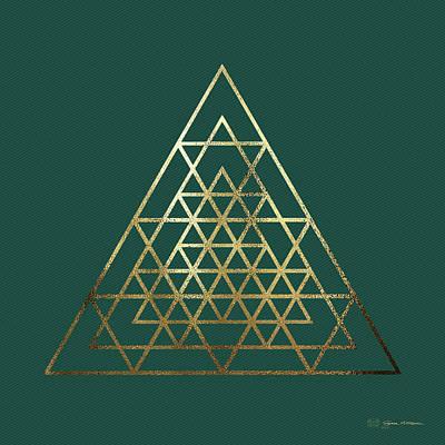 Digital Art - Sacred Geometry - Philosopher's Stone No. 4 by Serge Averbukh