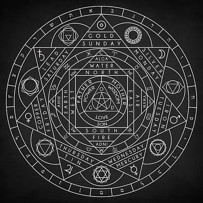 Digital Art - Sacred Geometry by Taylan Apukovska