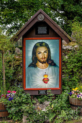 Plaque Photograph - Sacred Heart by Adrian Evans