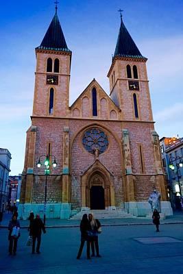 Sarajevo Photograph - Sacred Heart Cathedral Sarajevo by Jasmin Hrnjic