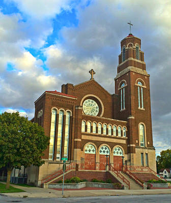 Photograph - Sacred Heart Catholic Church by Kathy M Krause