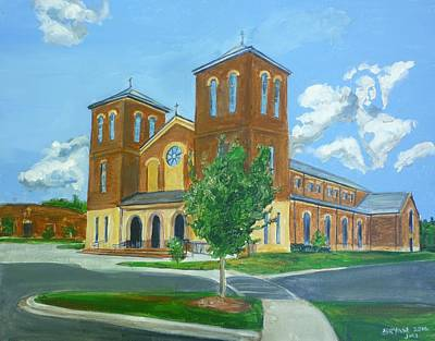 Painting - Sacred Heart Catholic Church Salisbury North Carolina by Bryan Bustard