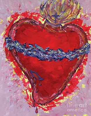 Sacred Heart Original by Danielle Tayabas