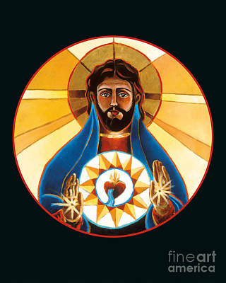 Painting - Sacred Heart - Mmsah by Br Mickey McGrath OSFS