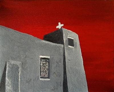Painting - Sacred Heart Nambe Nm Before The Storm by Brenda Pressnall