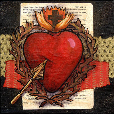 Wall Art - Painting - Sacred Heart No. 2 by Candy Mayer