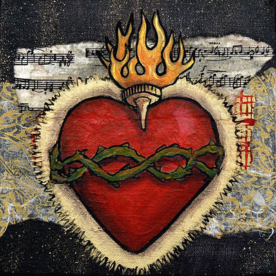 Wall Art - Painting - Sacred Heart No. 3 by Candy Mayer