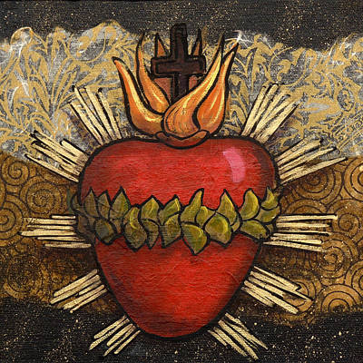 Wall Art - Painting - Sacred Heart No. 4 by Candy Mayer