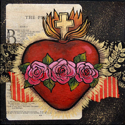 Religious Art Painting - Sacred Heart No. 5 by Candy Mayer