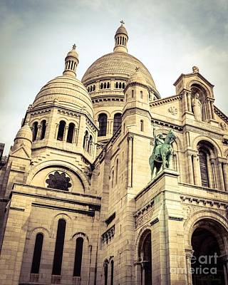 Sacre Coeur Photograph - Sacred Heart Of Jesus - Montmartre - Paris by Turtle Shoaf