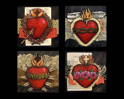 Religious Art Painting - Sacred Hearts by Candy Mayer