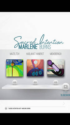 Painting - Sacred Intention Mag Pr by Marlene Burns