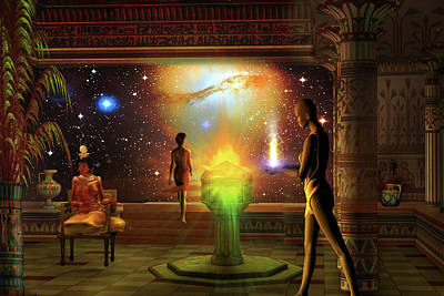Print featuring the digital art Sacred Journey To Another World by Shadowlea Is