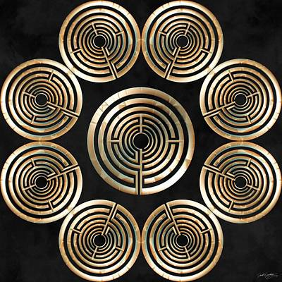 Digital Art - Sacred Labyrinth by Derek Gedney